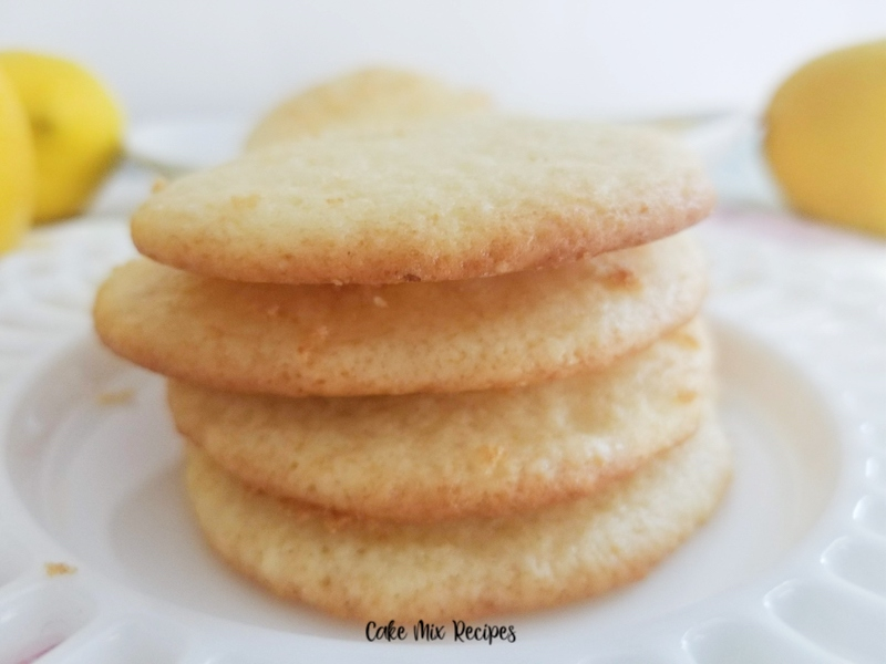 A featured image showing the finished stack of lemon cake mix cookies ready to eat.
