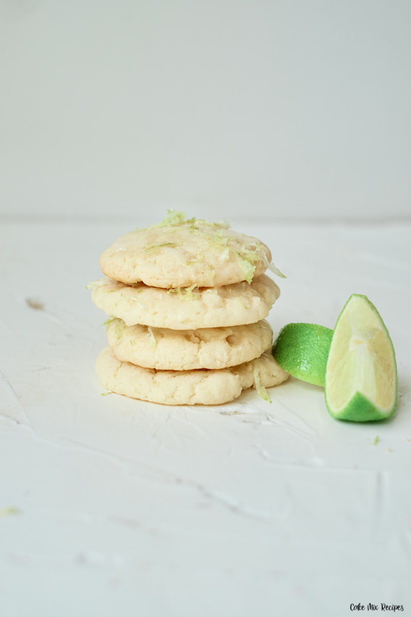 A stack of key lime cookies ready to be enjoyed.