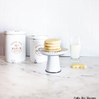 Featured image showing the finished soft cake mix sugar cookies stacked up ready to eat.