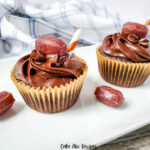 Featured image showing the finished chocolate root beer cupcakes ready to eat.