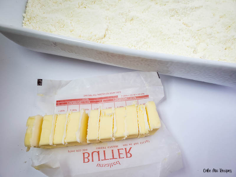 butter stick cut into 12 slices.
