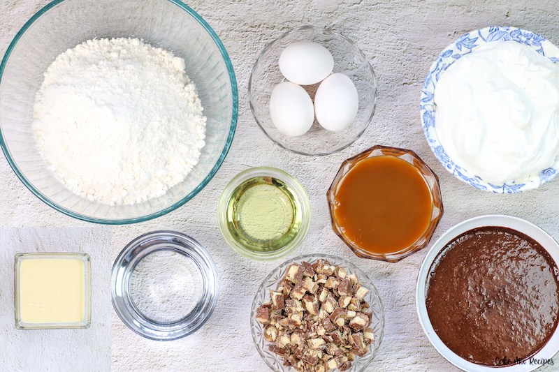 ingredients needed to make Twix cake