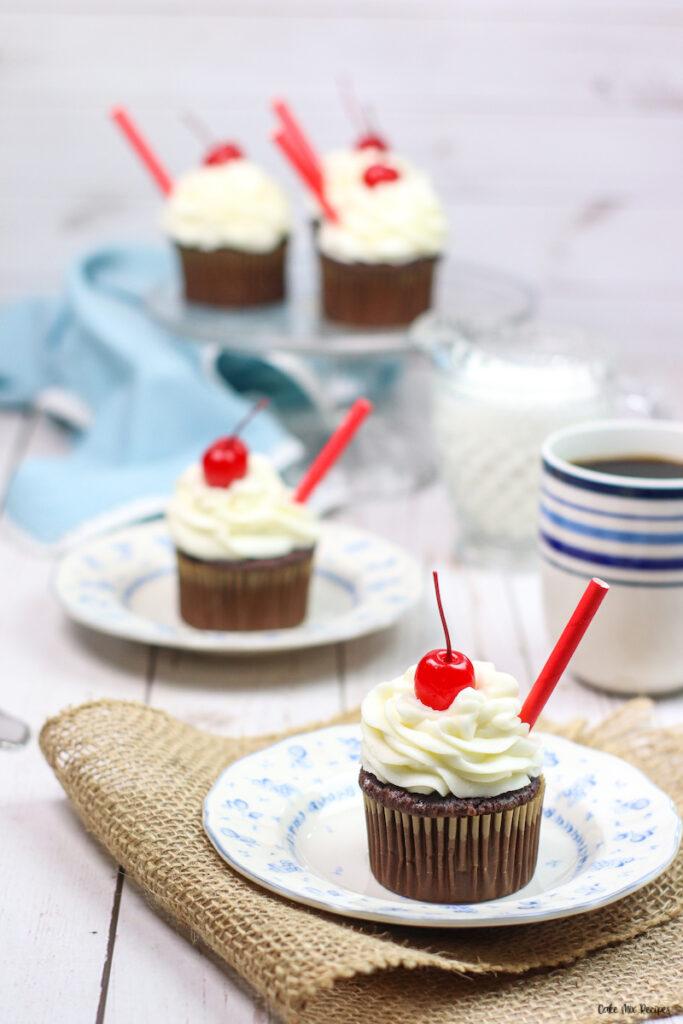Finished cupcakes ready to be enjoyed.