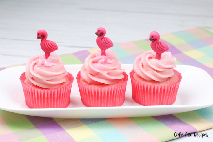 Featured image showing the finished strawberry milk cupcake recipe ready to eat.
